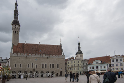 Plaza in Tallinn, Estonia.