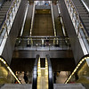 Escalators leading into the metro station.