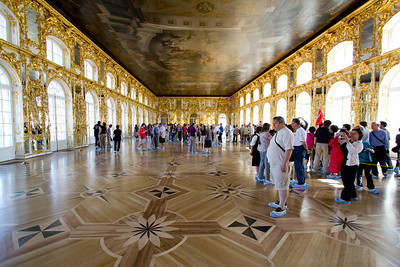 Catherine Palace - note the booties