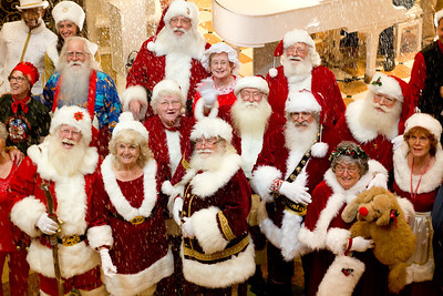 Santa Claus gathering on Emerald Princess