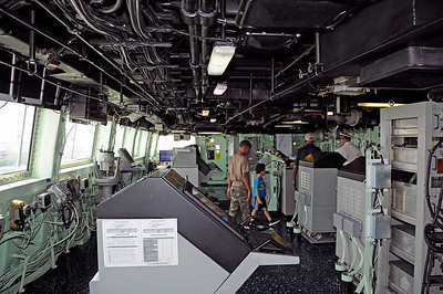 The Bridge on the USS Donald Cook. (special pass)