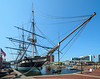 The USS Constellation in Baltimore Harbor