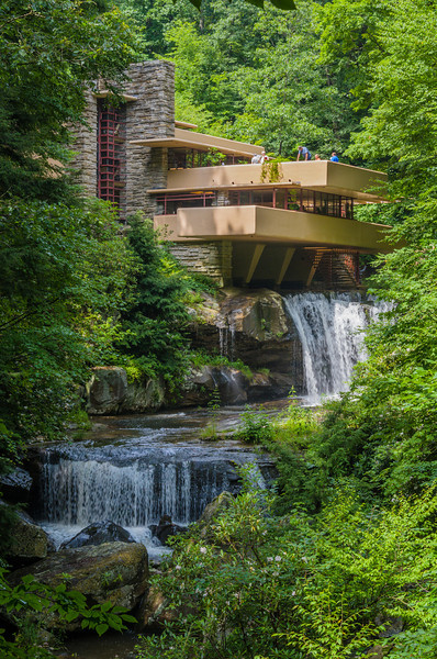 Falling Water, Frank Lloyd Wright design.