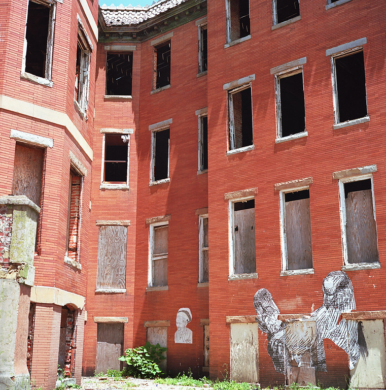 Abandoned Victorian apartments in Baltimore's Reservoir Hill