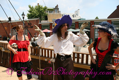 The pirate crew giving us the safety schpiel.