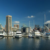 Baltimore's Inner Habor through marina
