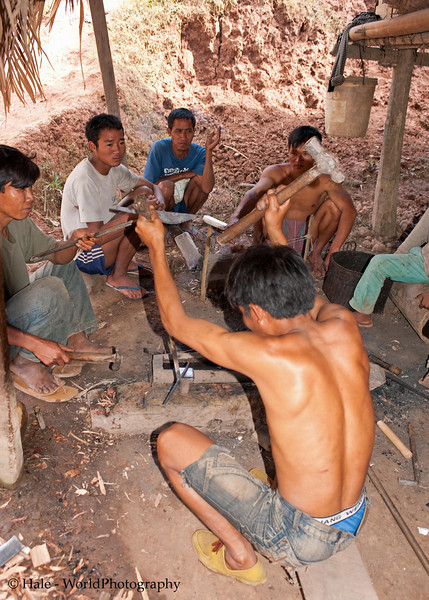 The Village Smithy, Ban Sopsim, Lao People's Democratic Republic