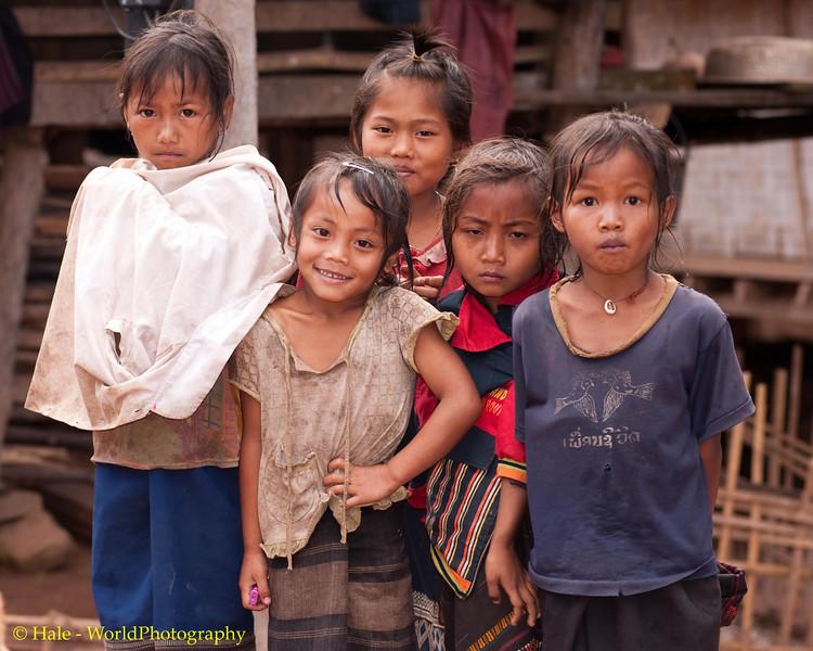 Some Young Khmu Girls of Ban Sopsim, Laos