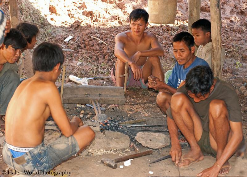 Ban Sopsim Blacksmith and Helpers, Lao People's Democratic Republic