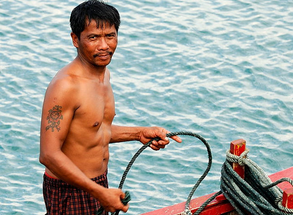 An Acehnese fisherman returns from a day at sea.