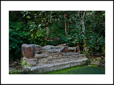 26: Sleeping Vishnu statue, Bandhavgarh | Sheshaiya 1 March 2010 NIKON D90; 18-200 mm f/3.5-5.6; Center-weighted average; 1/60 sec at f/4.0; ISO-320;