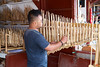 This is a traditional instrument called and angklung. It originated in Indonesia but is now found throughout most of Southeast Asia.<br /> IMG_0164