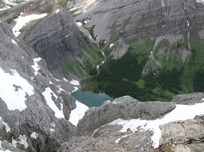 Lake Borgeau down below.