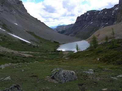 Alpine lake above Lake Borgeau.