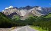 Mountain range south of Banff along Canada Highway 40.