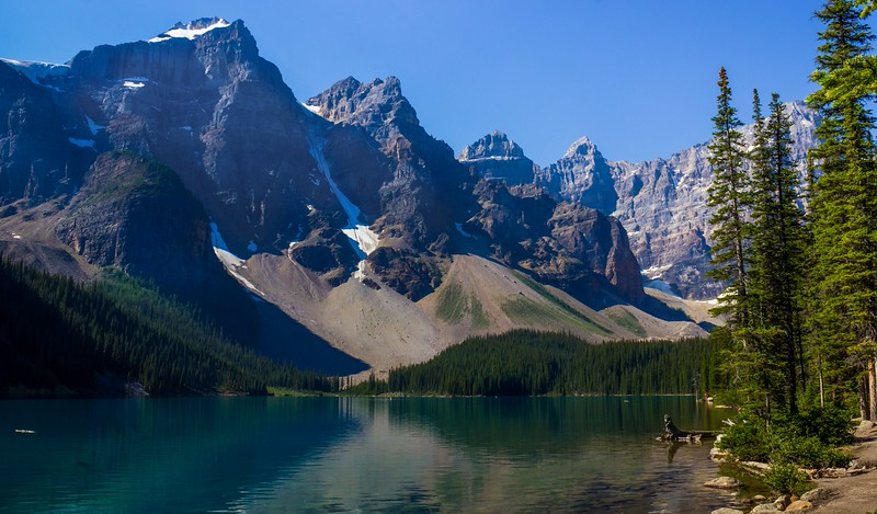 Moraine Lake from the lakeside trail.