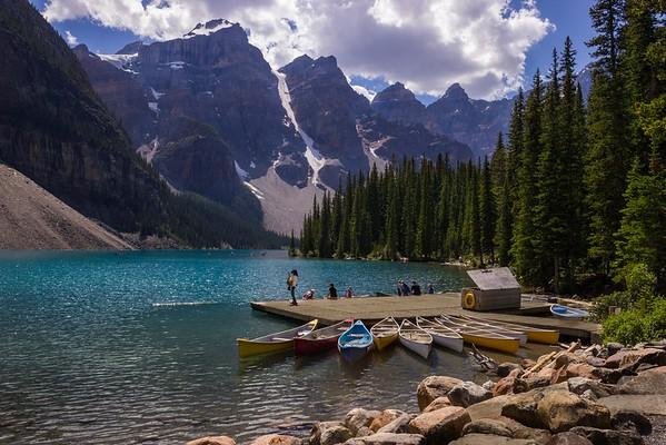Lower Canadian Rockies, Glacier NP, Banff, Moraine Lake