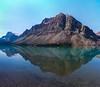 Crowfoot Mountain backdrops Bow Lake.