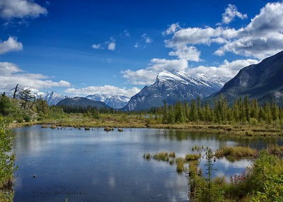 Mt Rundle and Vermillion Lake