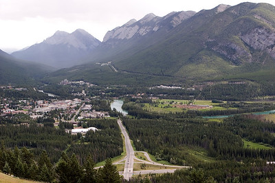 Banff Townsite, from Mt Norquay