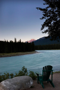 Mt Edith Cavell Sunrise, Athabasca River