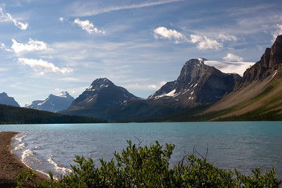 Bow Lake, Bow Peak, Crowfoot Mt and Glacier