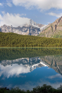Waterfowl Lake and Mt Chephren