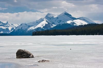 Frozen Lake Maligne