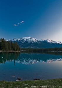 Lake at Sunset - Jasper