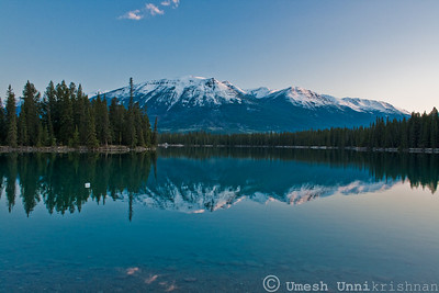 Lake at Sunset - Jasper