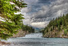 Bow Falls, weather coming in