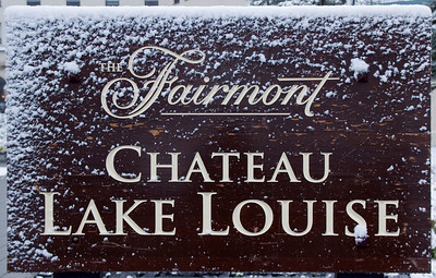 Fairmont Chateau Lake Louise Sign