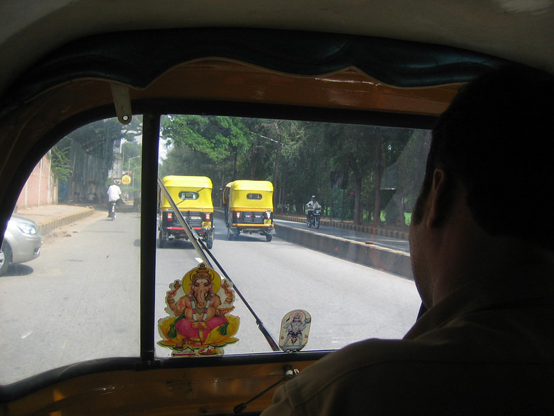 View from inside my taxi on the way to work.