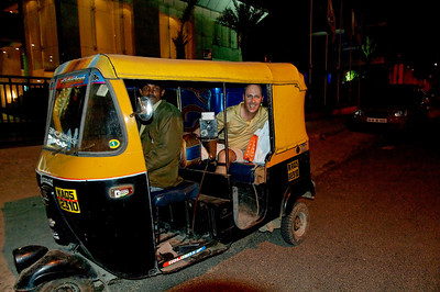 My auto rickshaw ride home...