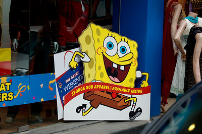 Sponge Bob, the international sensation.