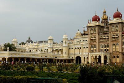 Mysore palace was occupied by the ruling family until the early 20th century.  It's one of the most famous palaces and large tourist attraction.
