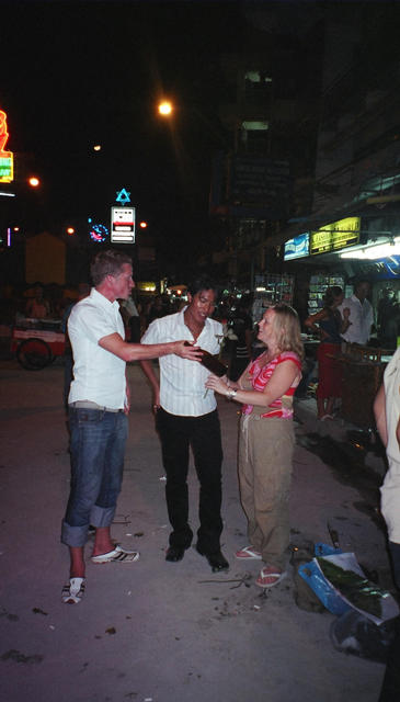 Emil, David and Sam on Ko San Road - Emil's last night