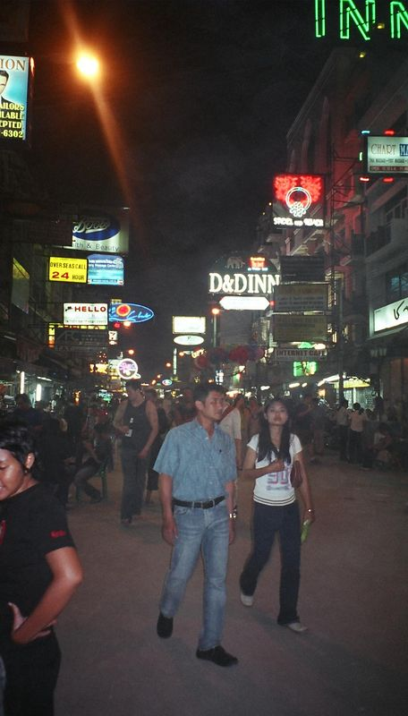 Koh San Road at night