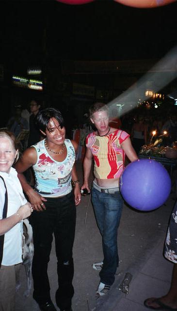 2 Ladyboys,  David and Emil with Helium balloon.