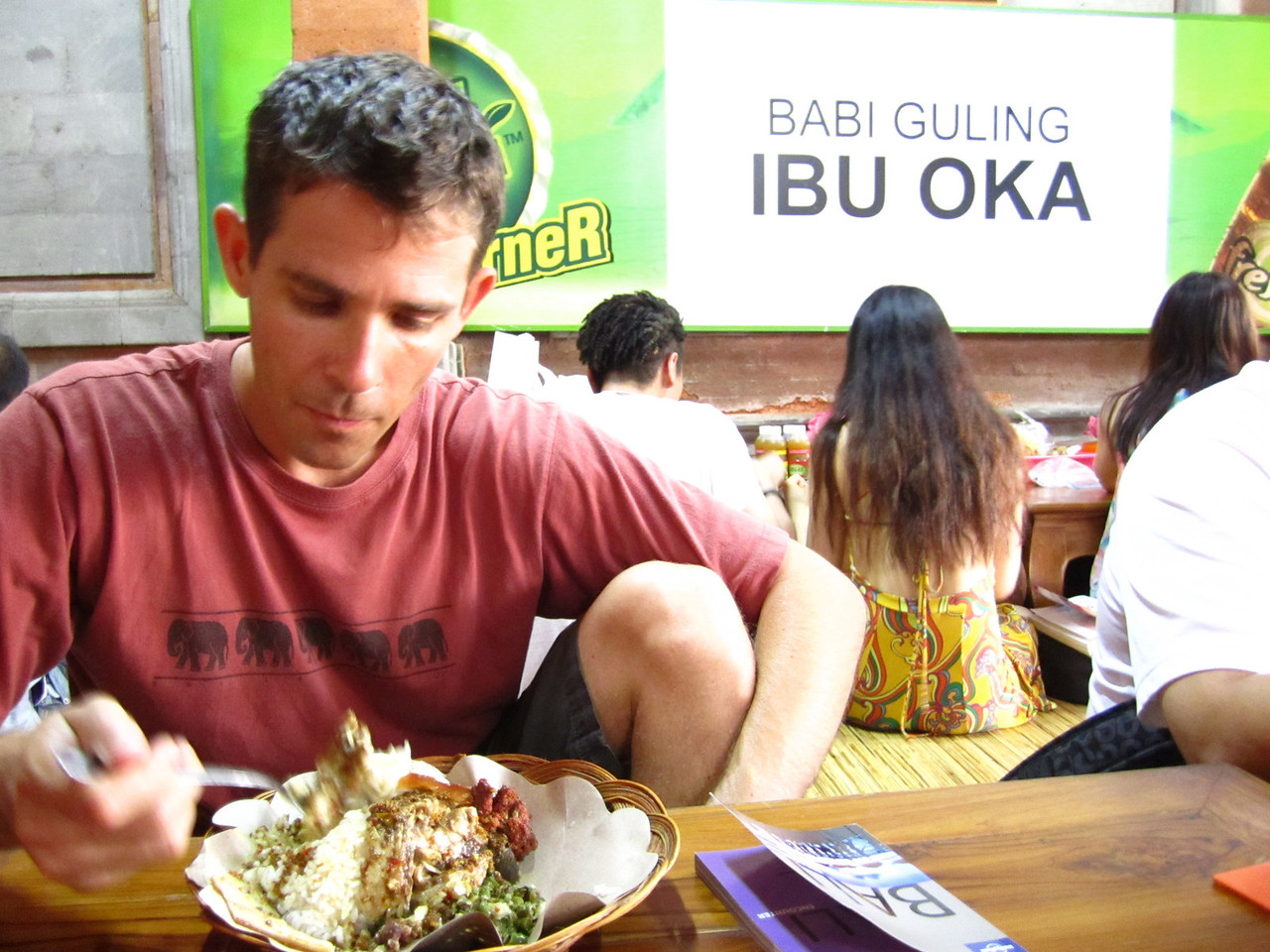 Lunch at Ibu Oka.  Made famous by Anthony Bourdain!
