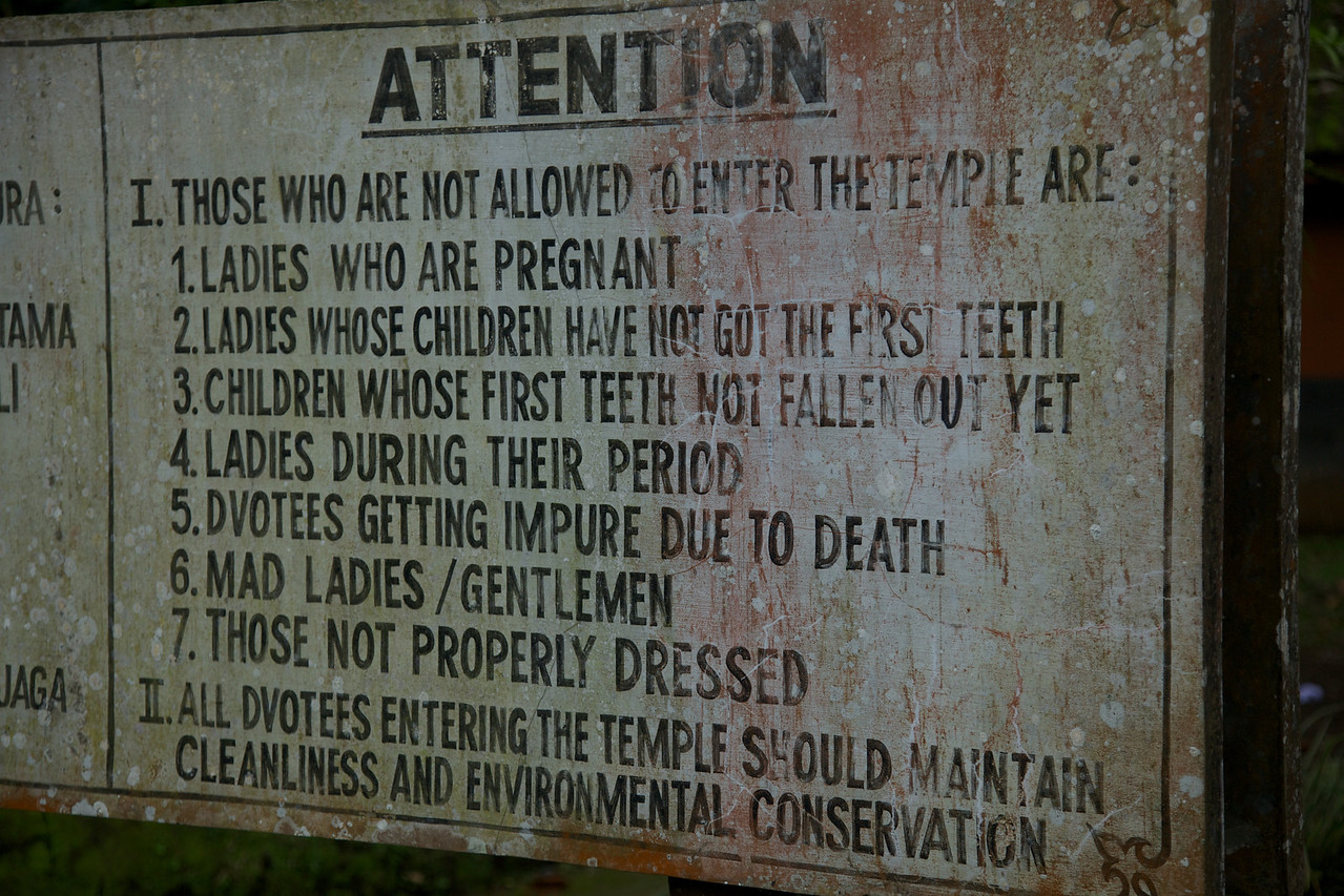 With all these rules it was a miracle we were allowed in!