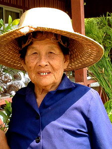 Fish farm owner - who was so taken up with me, she kept touching my face!