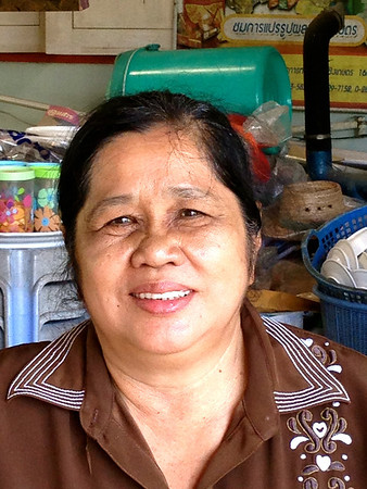 Farmer's wife - who served us tea and Thai cakes!