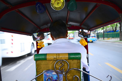 Whizzing around in a tuk tuk