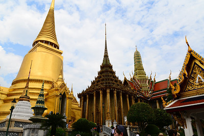 The beautiful Grand Palace with its various architectural styles