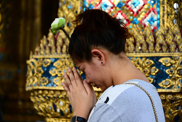 At Wat Phra Kaew (Temple of the Emerald Buddha)