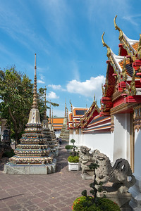 Wat Pho (Thai: วัดโพธิ์). Temple of the Reclining Buddha Complex. Wat Phra Chetuphon Vimolmangklararm Rajwaramahaviharn.  The temple complex houses the largest collection of Buddha images in Thailand, including a 46 m long reclining Buddha. The temple is considered the earliest centre for public education in Thailand, and the marble illustrations and inscriptions placed in the temple for public instructions has been recognised by UNESCO.
