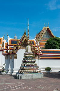 Wat Pho (Thai: วัดโพธิ์). Temple of the Reclining Buddha, its official name is Wat Phra Chetuphon Vimolmangklararm Rajwaramahavihar.  King Rama I rebuilt the temple complex on an earlier temple site, and became his main temple where some of his ashes are enshrined. The temple was later expanded and extensively renovated by Rama III. The temple complex houses the largest collection of Buddha images in Thailand.