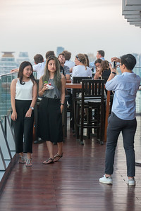 Guests enjoy 360º view from Octave Rooftop Lounge & Bar of Bangkok Marriott Hotel Sukhumvit, Bangkok, Thailand located on the 45th floor. This luxury hotel is set in the posh Thonglor district.
