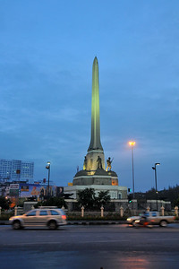 Victory Monument was erected in June 1941 to commemorate the Thai victory in the Franco-Thai War. The monument is one of Bangkok's major traffic intersections. There is a BTS Skytrain station of the same name to the south of the Monument, Victory Monument Station, and the expressway has an exit nearby to the north at Sanam Pao. Bangkok, Thailand